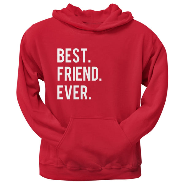 Valentine's Day Best Friend Ever Red Pullover Hoodie