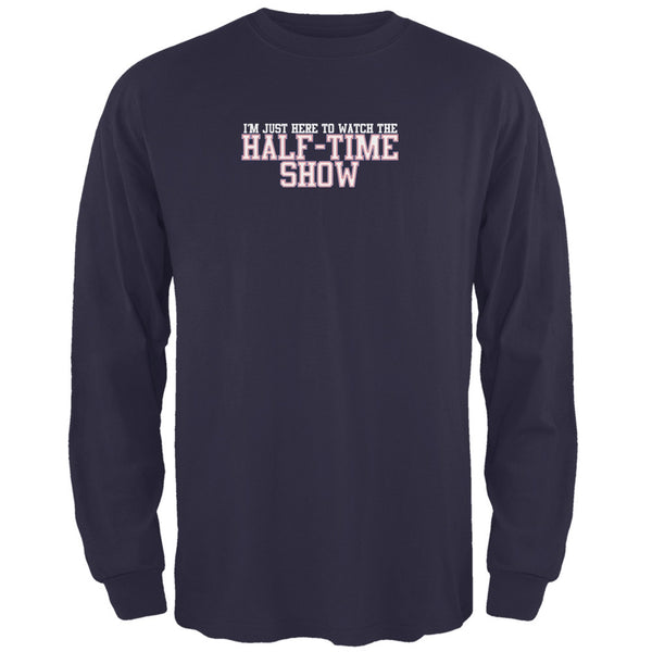 Big Game Half Time Show New England Blue Adult Long Sleeve T-Shirt