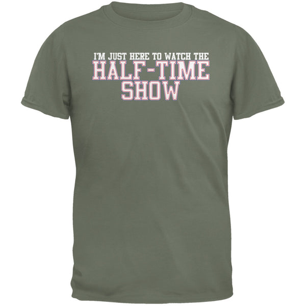 Big Game Half Time Show Military Green Adult T-Shirt