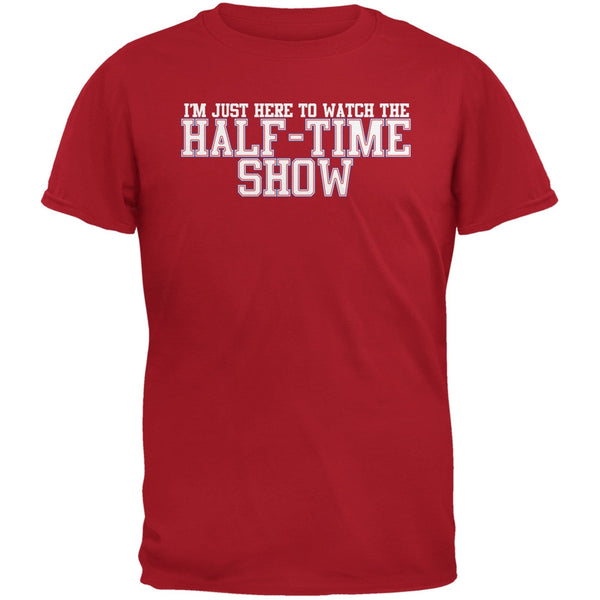 Big Game Half Time Show Red Adult T-Shirt