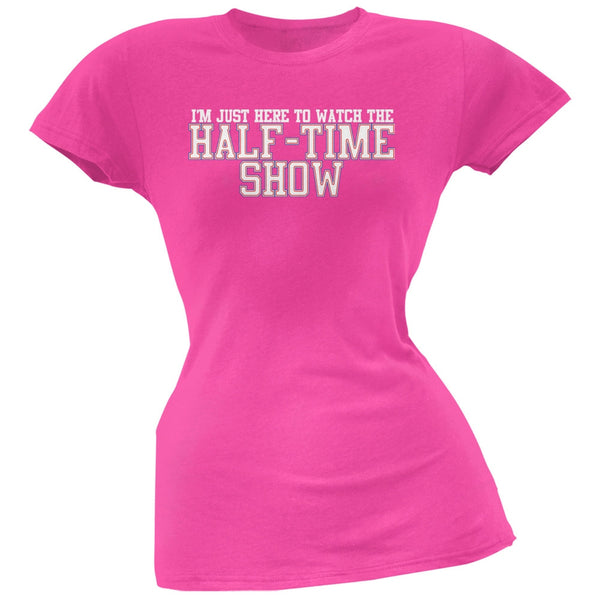 Big Game Half Time Show Hot Pink Soft Juniors T-Shirt