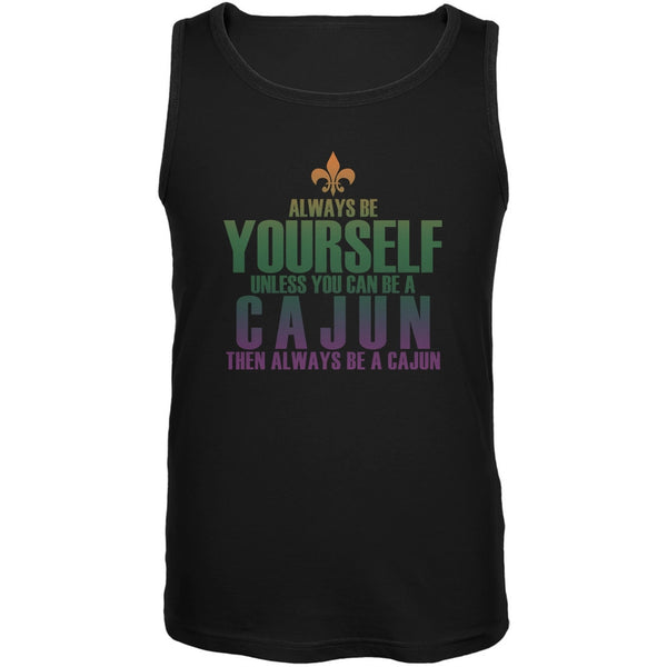 Always Be Yourself Cajun Black Adult Soft Tank Top
