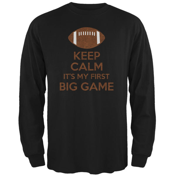 First Big Game Football Black Adult Long Sleeve T-Shirt