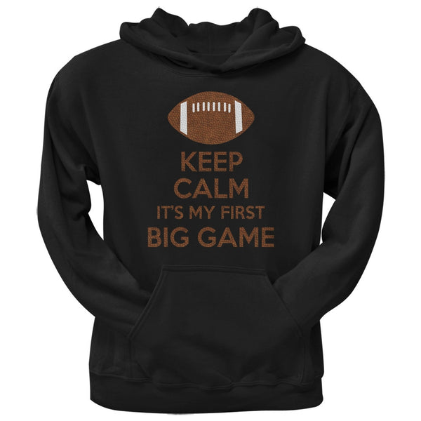 First Big Game Football Black Adult Pullover Hoodie