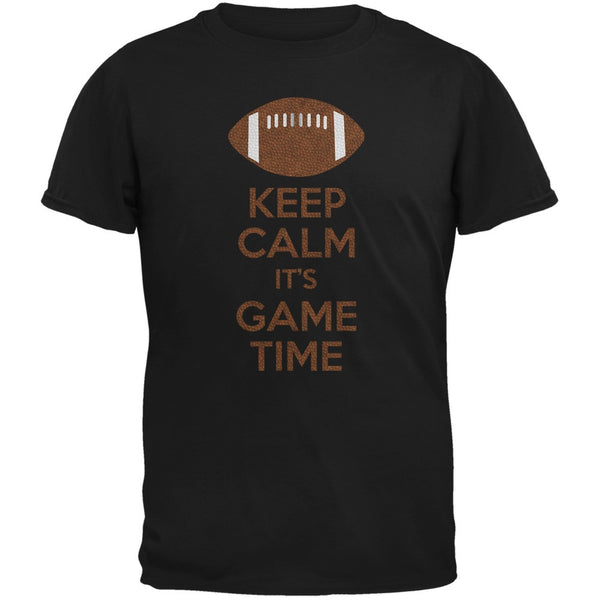 Keep Calm Game Time Football Black Youth T-Shirt