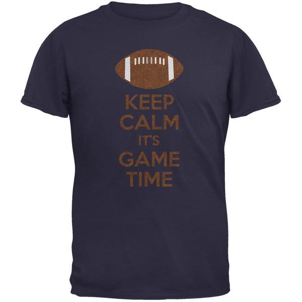 Keep Calm Game Time Football New England Blue Youth T-Shirt