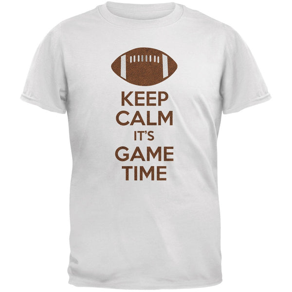 Keep Calm Game Time Football White Youth T-Shirt