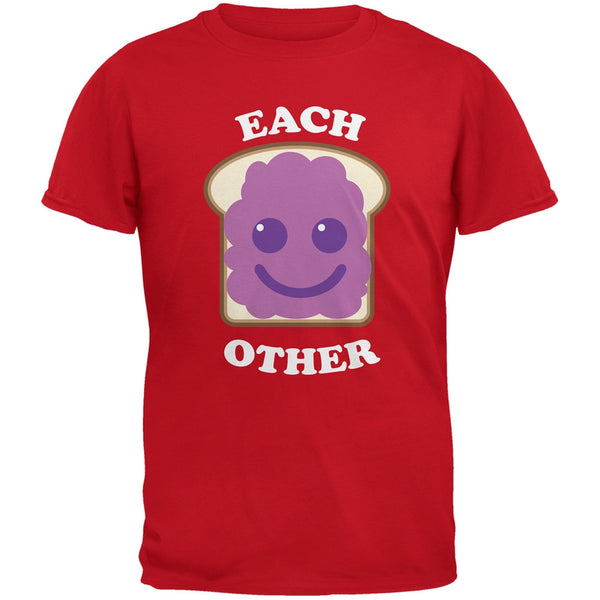 Couples Jelly Sandwich Red Adult T-Shirt