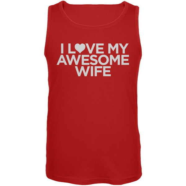 I Love My Awesome Wife Red Mens Tank Top
