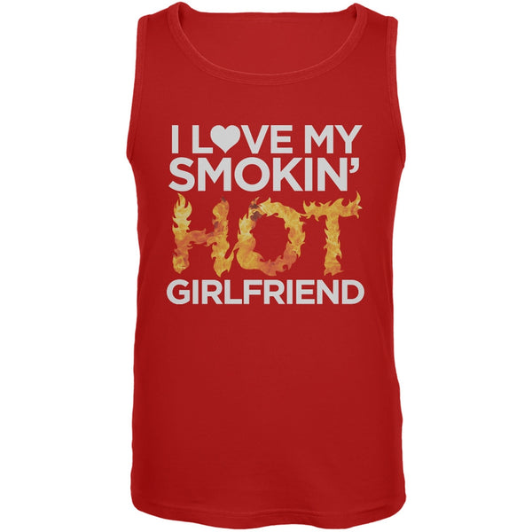 I Love My Smokin Hot Girlfriend Red Mens Tank Top