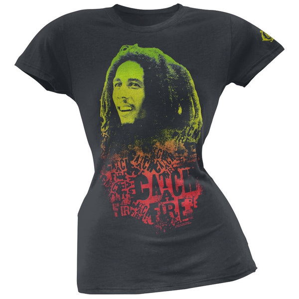 Bob Marley - Catch A Fire Soft Juniors T-Shirt