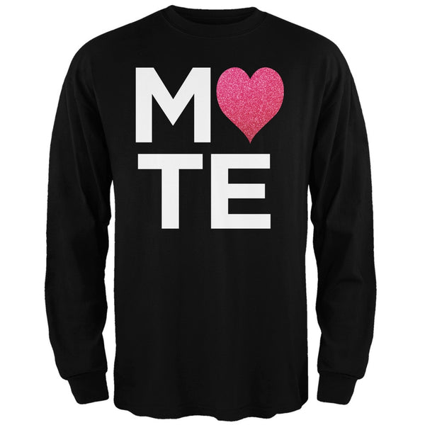 Valentine's Day - Mate Black Adult Long Sleeve T-Shirt