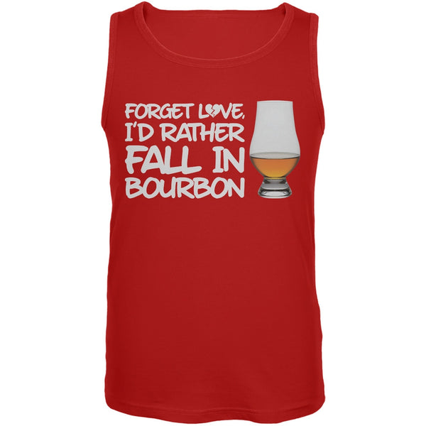 Forget Love, I'd Rather Fall in Bourbon Red Mens Tank Top