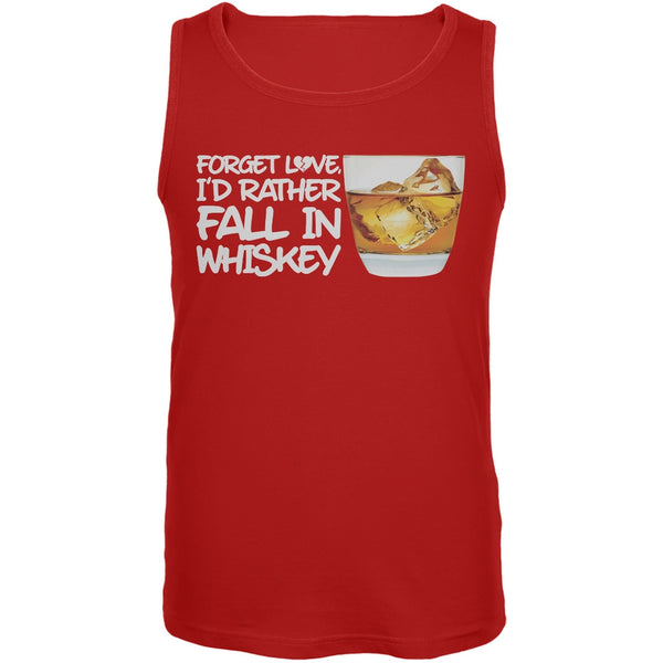 Forget Love, I'd Rather Fall in Whiskey Red Mens Tank Top