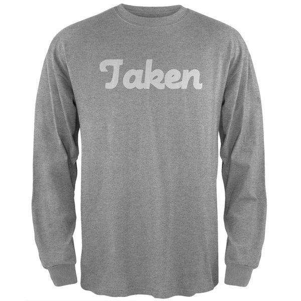 Valentine's Day Taken Heather Grey Adult Long Sleeve T-Shirt