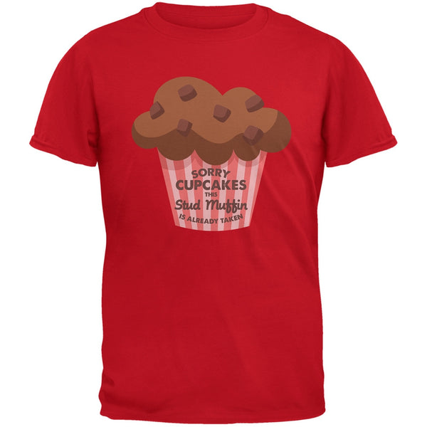 Valentine's Day Sorry Cupcakes Red Adult T-Shirt