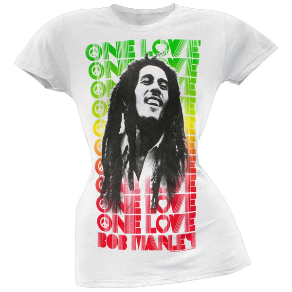 Bob Marley - Profile One Love Repeat Juniors T-Shirt