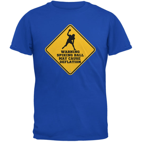Warning Spiking Ball May Cause Deflation Royal Adult T-Shirt