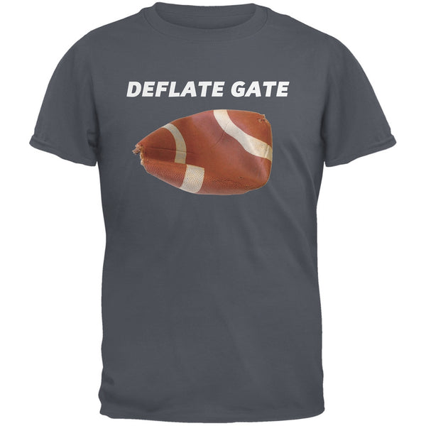 Deflate Gate Charcoal Grey Adult T-Shirt