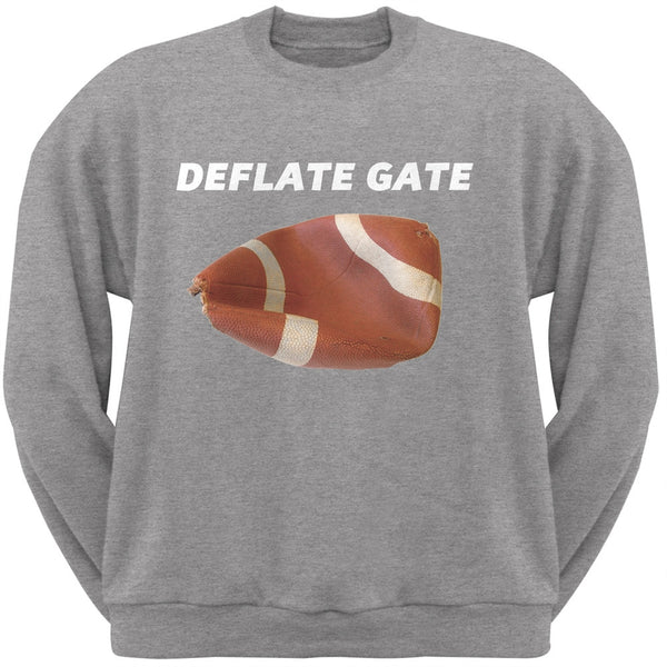 Deflate Gate Light Heather Grey Adult Crew Neck Sweatshirt