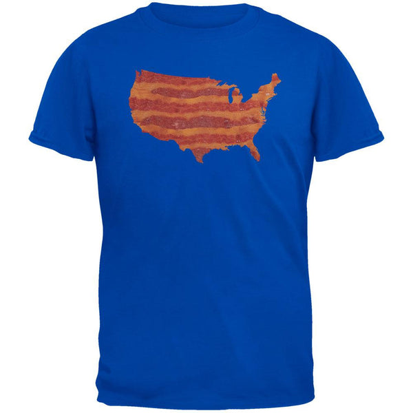 United States Of Bacon Adult Metro Blue T-Shirt