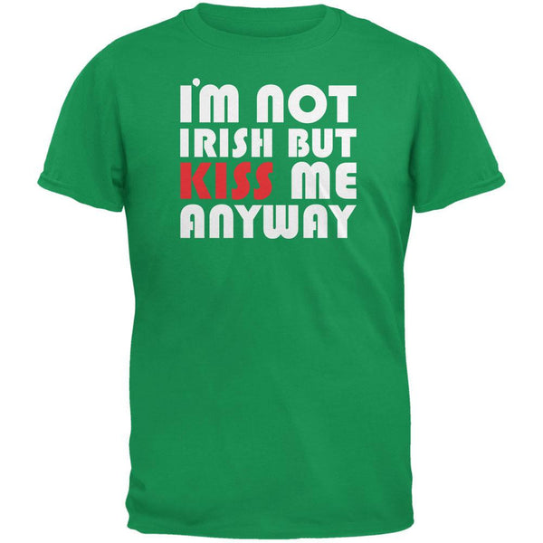St. Patricks Day - Kiss Me Anyway Green Youth T-Shirt