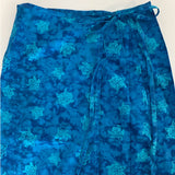 Calico Sea Turtles Tie Dye Wrap Skirt - detail view