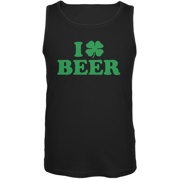 I Shamrock Love Beer Irish Black Adult Soft Tank Top