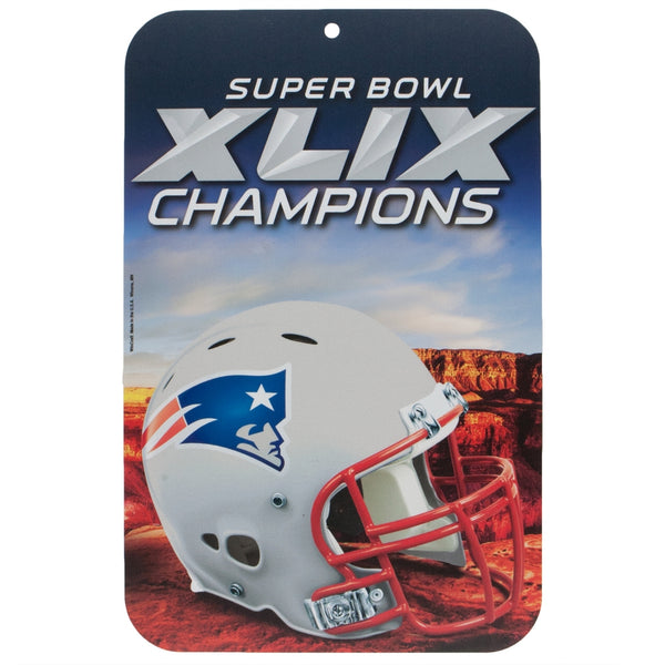 New England Patriots - Helmet Logo Super Bowl 49 Champions Locker Room Sign