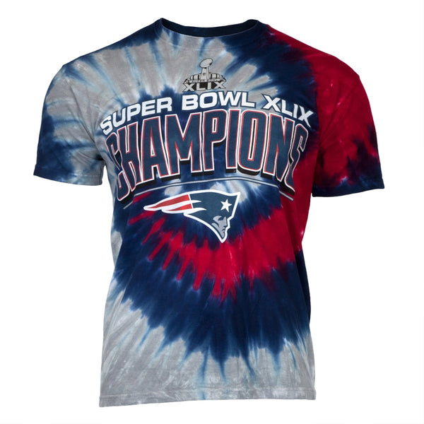 New England Patriots - Super Bowl Champions Spiral Tie Dye T-Shirt