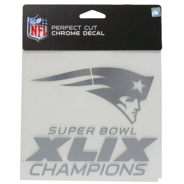 New England Patriots - Super Bowl 49 Champions 6x6 Chrome Perfect Cut Decal