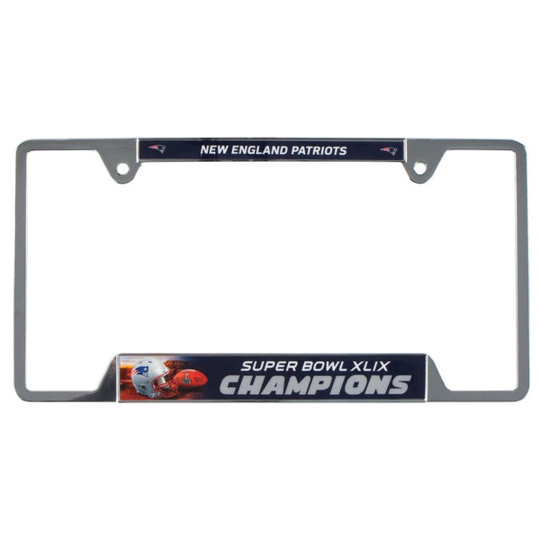 New England Patriots - Super Bowl 49 Champions Metal License Plate Frame