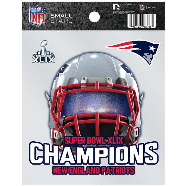 New England Patriots - Super Bowl 49 Champions Helmet Cling On Decal