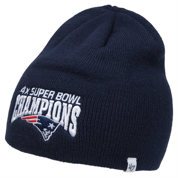 New England Patriots - Four Time Super Bowl Champions Navy Beanie