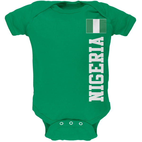 World Cup Nigeria Green Soft Baby One Piece
