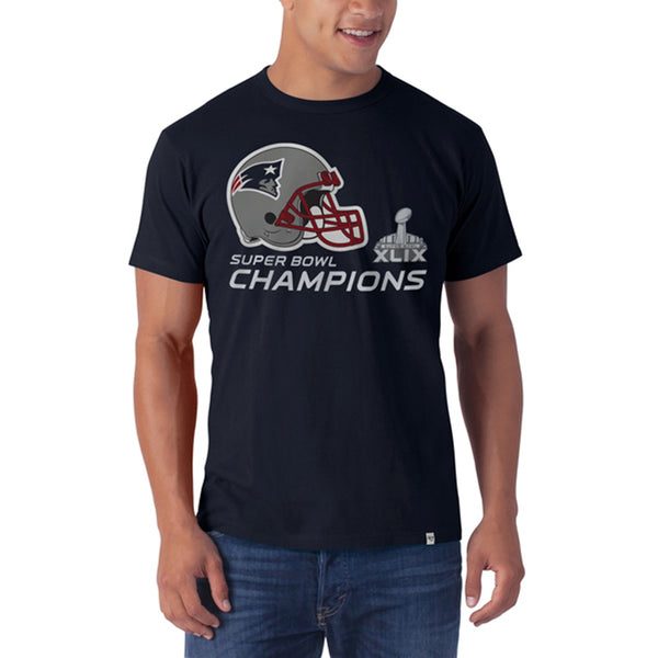 New England Patriots - Super Bowl 49 Champions Helmet Logo All Pro Flanker T-Shirt