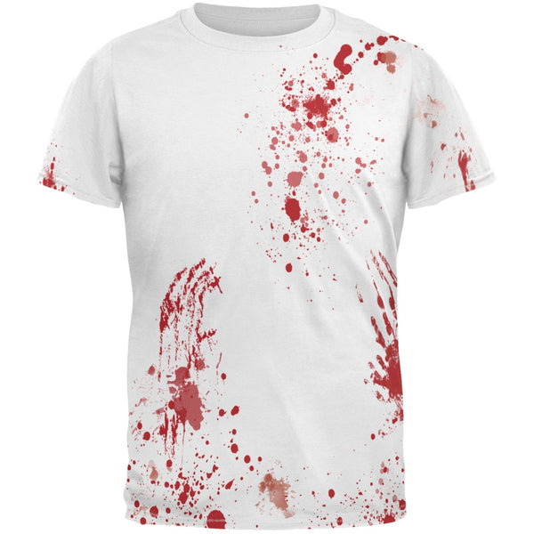 Halloween Blood Splatter All Over Costume Adult T-Shirt
