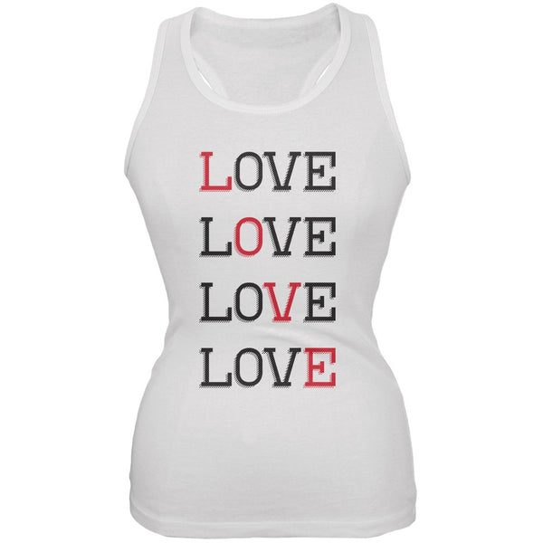 Valentines Day - All About Love White Soft Juniors Tank Top
