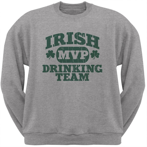 Irish Drinking Team Heather Grey Adult Sweatshirt