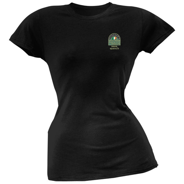 St. Patricks Day - O'Connor's Irish Drinkers Beer Wench Black Juniors T-Shirt