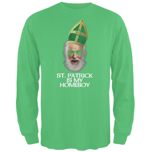 St. Patrick is My Homeboy Irish Green Adult Long Sleeve T-Shirt