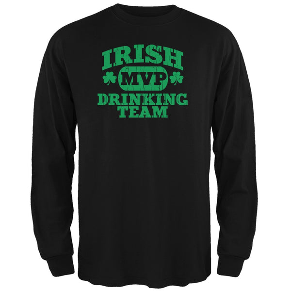Irish Drinking Team Black Adult Long Sleeve T-Shirt