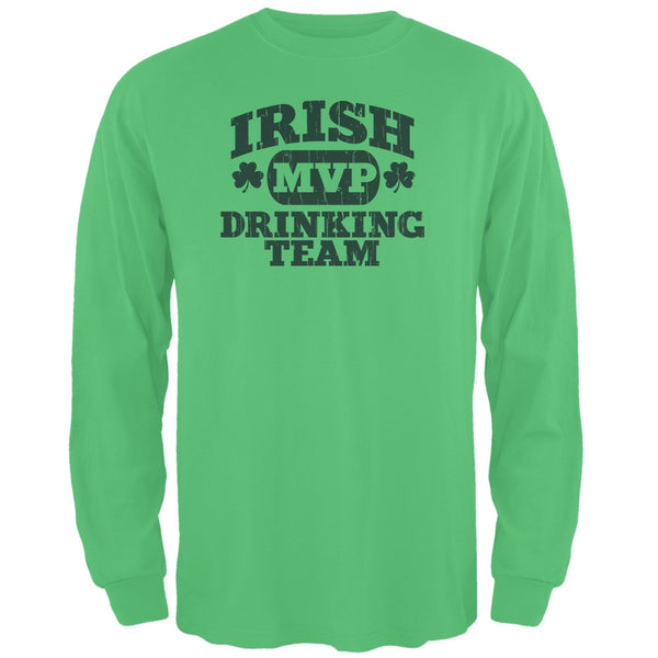 Irish Drinking Team Irish Green Adult Long Sleeve T-Shirt