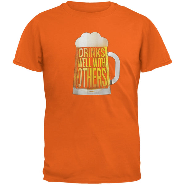 Drinks Well with Others Orange Adult T-Shirt