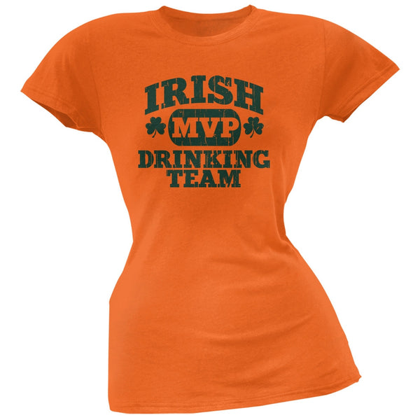 Irish Drinking Team Orange Soft Juniors T-Shirt