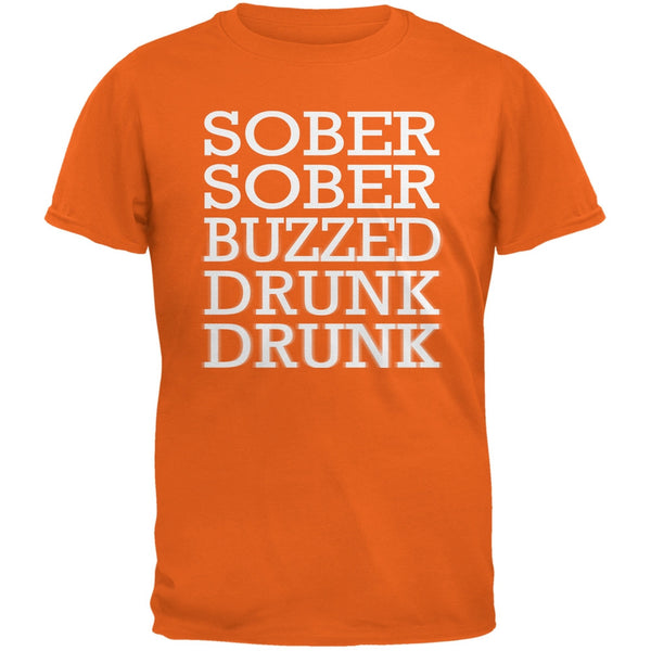 St. Patrick's Day - Sober to Drunk Orange Adult T-Shirt
