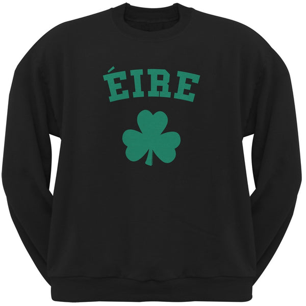 St. Patrick's Day - Eire Shamrock Black Adult Sweatshirt