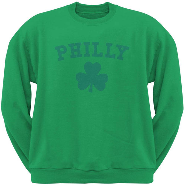 St. Patrick's Day - Philly Shamrock Green Adult Sweatshirt