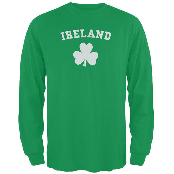 St. Patrick's Day - Ireland Shamrock Green Adult Long Sleeve T-Shirt