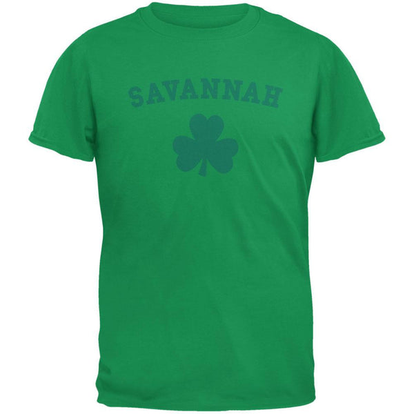 St. Patrick's Day - Savannah Shamrock Green Adult T-Shirt